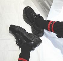 秋冬季新款棉鞋网面布面休闲男鞋潮流时尚系带跑步鞋男女鞋