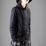 Cotton and hemp blouse black cotton jacket