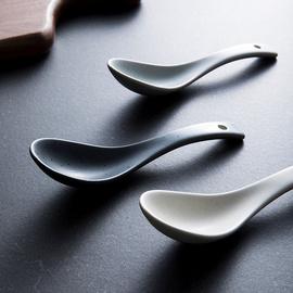 即物 创意时尚家居厨房日用小勺子儿童饭勺汤勺陶瓷勺子 甜品勺图片