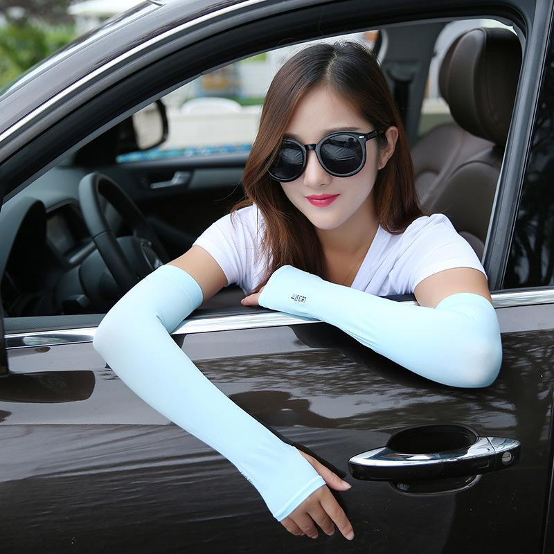 开汽车衫骑车防紫外线女士长雪纺丝巾防晒手套夏季防晒衣遮阳袖套