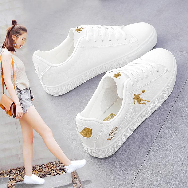 乔丹女士运动鞋女软底透气小白鞋女2019休闲女鞋新款夏季平底板鞋