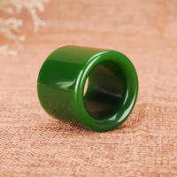 Qingsong jade Xinjiang jasper finger ring original mine and Tian Yu jade full green finger ring