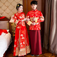Show Wo clothing rental dragon and phoenix rental Chinese wedding dress 2019 new dress bride wedding toast clothing pregnant women