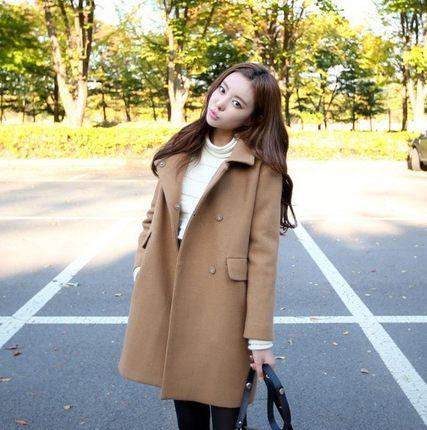 小个子毛呢外套女短款显高娇小女装秋冬款妮子大衣150cm矮个子xs