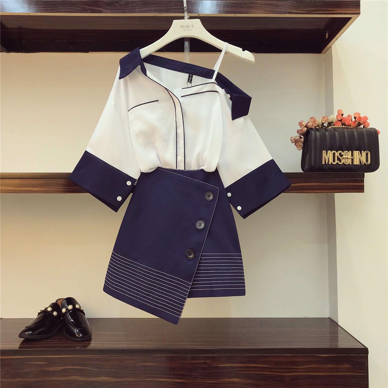 襯衣+短裙