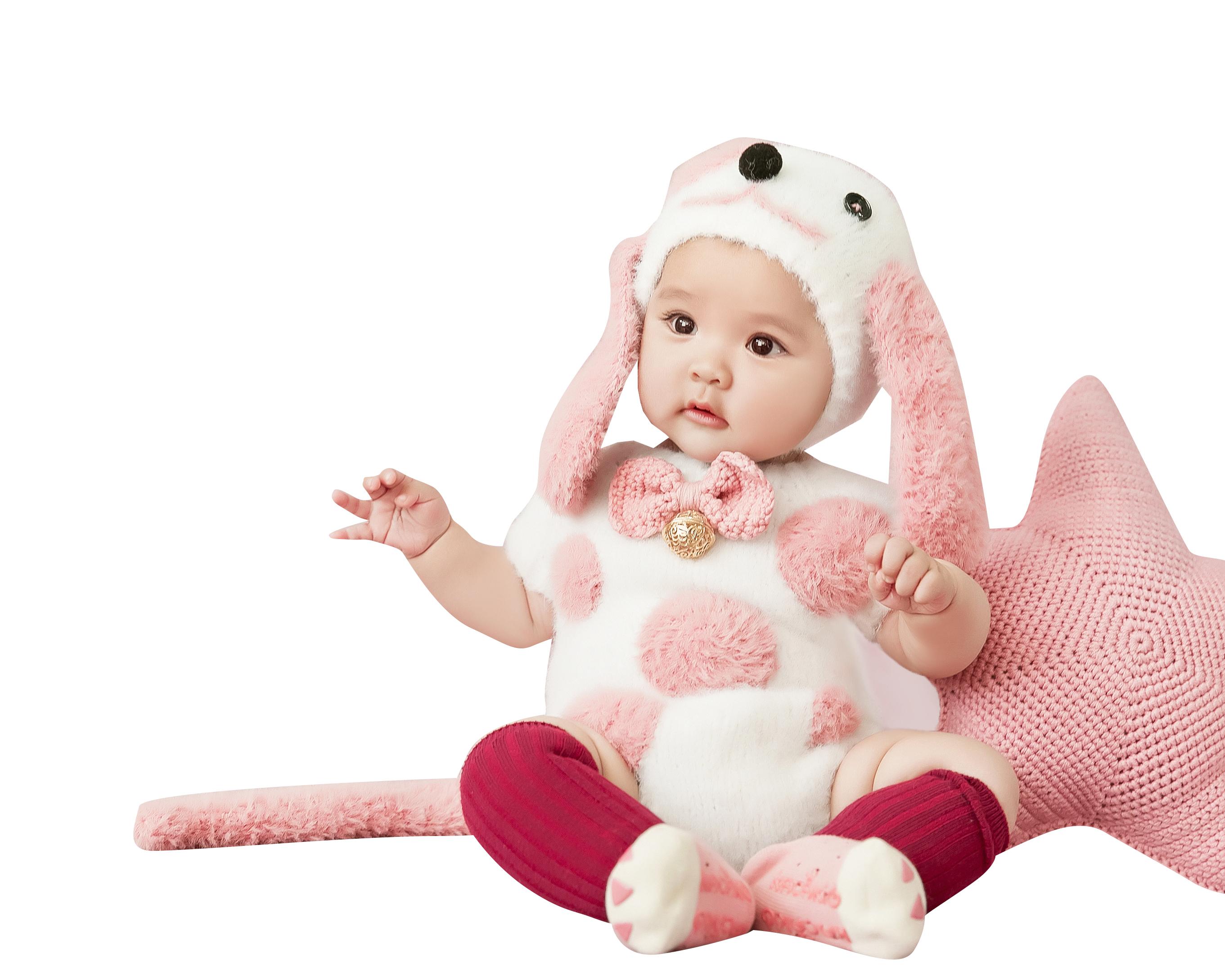新款百天摄影服装 狗年主题宝宝拍照道具 正版展会艺术照衣服出租