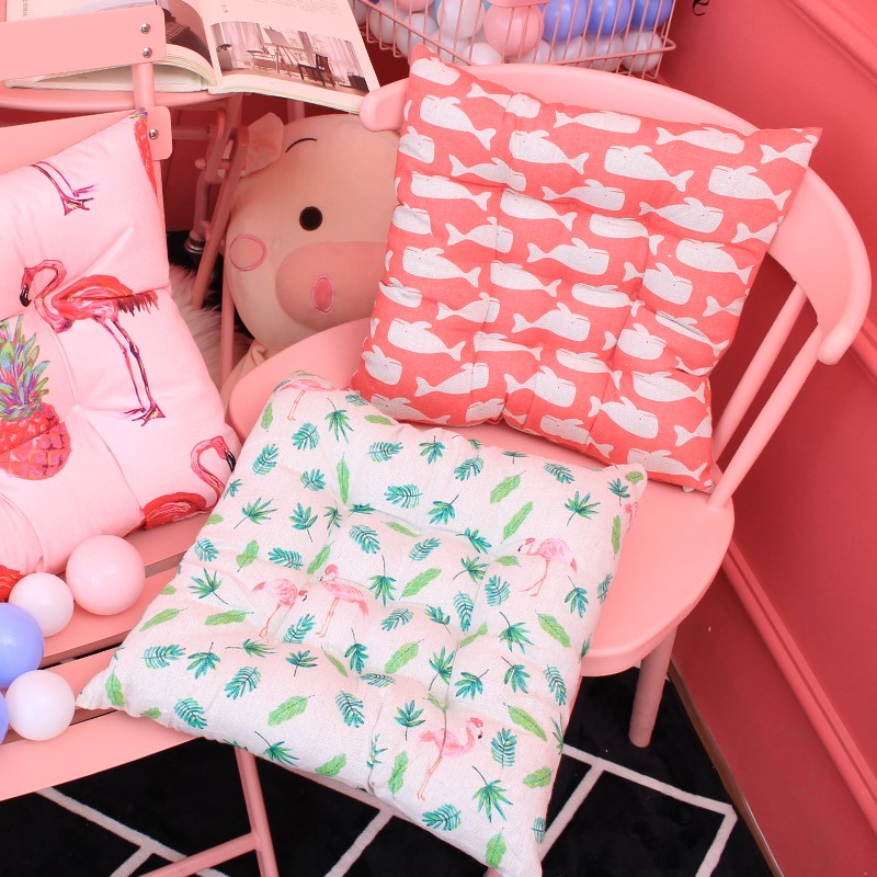 椅子坐垫抱枕地板垫子带绑带餐厅椅子家用软垫子客厅凳子加厚靠垫