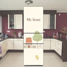 冰箱贴创意可爱贴纸厨房装饰贴画定制卡通翻新自粘不透明防水贴膜