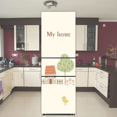 Creative kitchen fridge magnet decorative stickers cute cartoon sticker custom refurbished opaque self-adhesive waterproof film