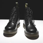 马丁靴男高帮英伦风真皮短靴百搭潮鞋工装靴男靴子春季男鞋雪地靴