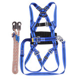 Full-body anti-fall electrician seat belt high-altitude work safety rope five-point safety belt high-altitude safety belt belt