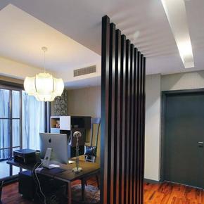 屏风隔断玄关门客厅现代时尚简约易原实木柜个性创意田园新竖条
