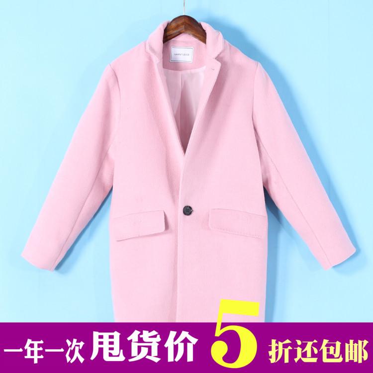 紫色茧型大衣