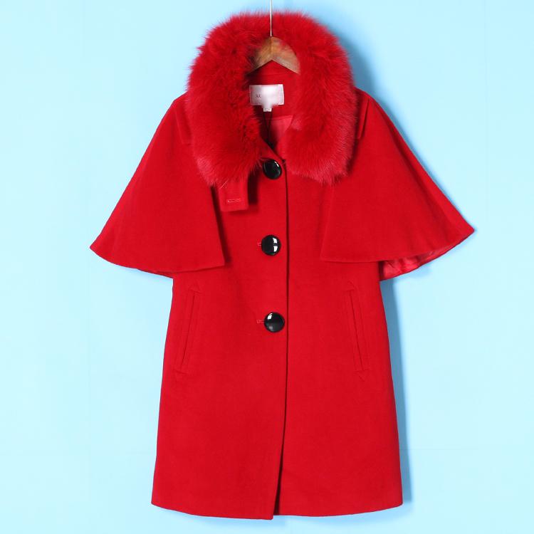 狐貍毛大衣剪標