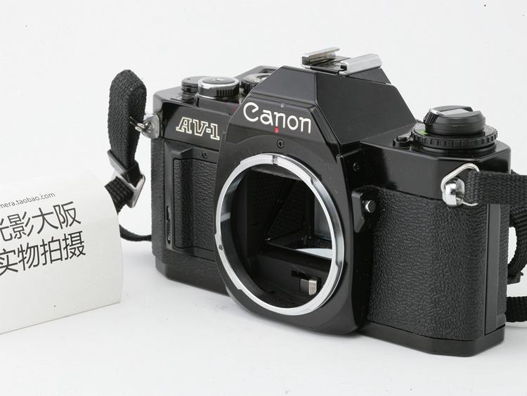 实物拍摄canon佳能 黑色AV-1 FD/FL口 胶卷胶片相机 金属单反相机