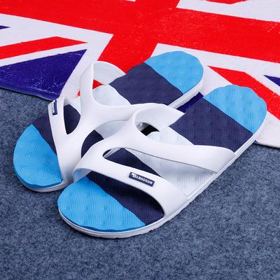 简约男士拖鞋夏季潮流时室外家居家厚底塑料防滑情侣沙滩凉拖鞋