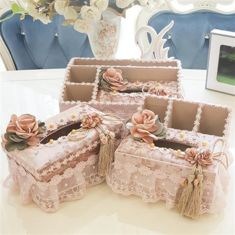 新款纸巾盒 布艺多功能抽纸盒 客厅遥控器杂物收纳篮