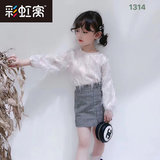 Girls'skirt with thin style and foreign style The new summer and autumn half-length skirt with children's foreign style checked hip skirt fashion trend