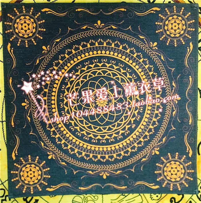 祭坛布 桌布 曼陀罗 生命之花 莲花 脉轮 灵性摆件 魔法仪式工具