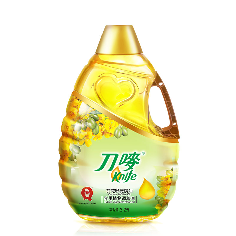 刀唛玉米油4.68L+芥花籽橄榄油2.2L非转基因植物油烹调刀麦油家用
