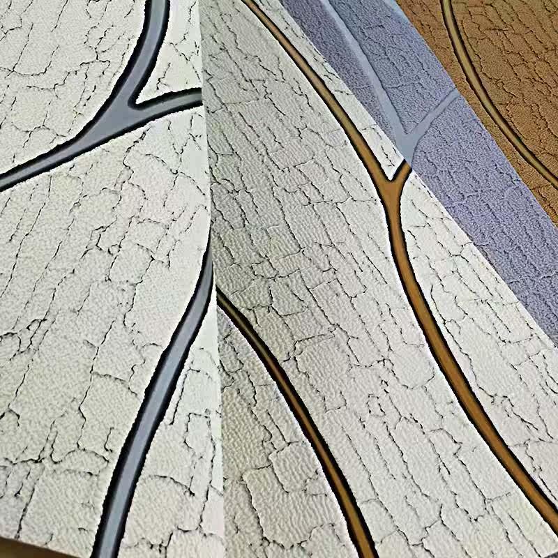 简约现代3D卧室鹿皮绒客厅电视背景墙纸 条纹沙发背景壁纸无纺布