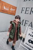 La Fulai winter clothing boy children down jacket white duck down vest baby long down jacket children's clothing