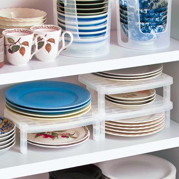 日本进口厨房放碗碟架沥水架碗柜塑料餐具收纳盒碗盘置物架碗架子