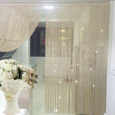 热卖加密银丝线帘门帘挂帘隔断玄关窗帘不缠绕韩式婚庆装饰帘