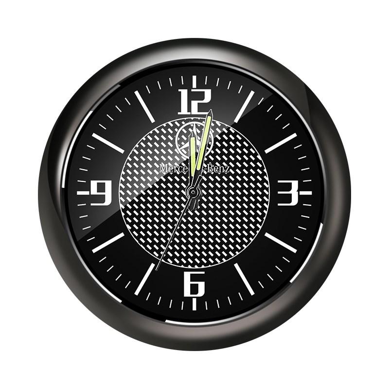汽车车载创意夜光时钟仪表台钟表内饰电子钟石英表摆饰改装时间表