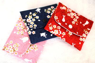 2个包邮~日本和风卫生巾收纳包 卫生棉姨妈巾收纳包 小巧外出便携