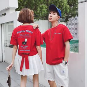 夏装衣服青年林弯弯中性风帅气男女情侣装文艺休短袖T恤很特别