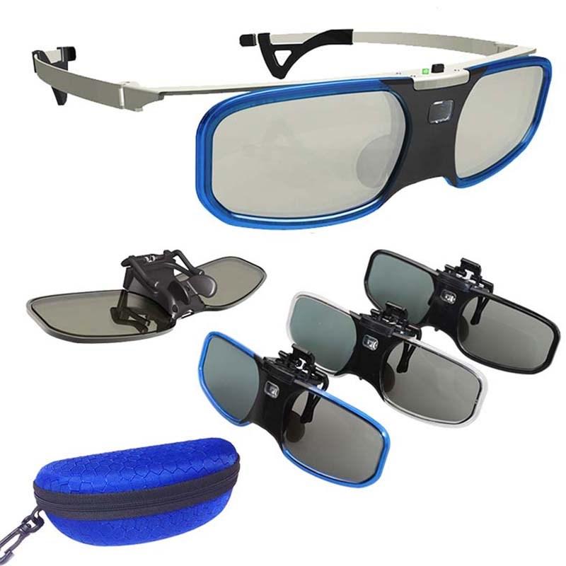 近视夹片主动快门式3D眼镜适用于酷乐视明基瑞格尔轰天炮DLP-link