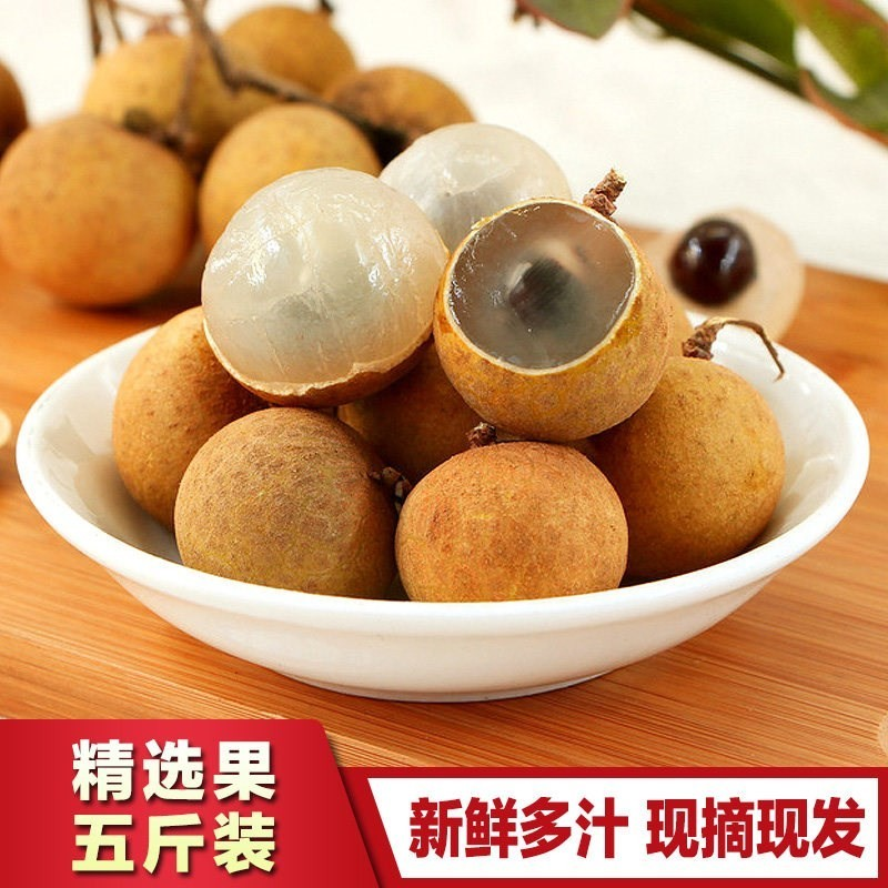 龙眼现货5斤装 泰国新鲜龙眼金标进口桂圆时令水果顺丰空运