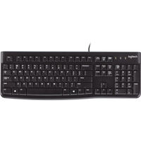 Logitech K120 wired film keyboard notebook desktop computer home game USB universal waterproof comfortable and durable MK120 wired mouse and keyboard set