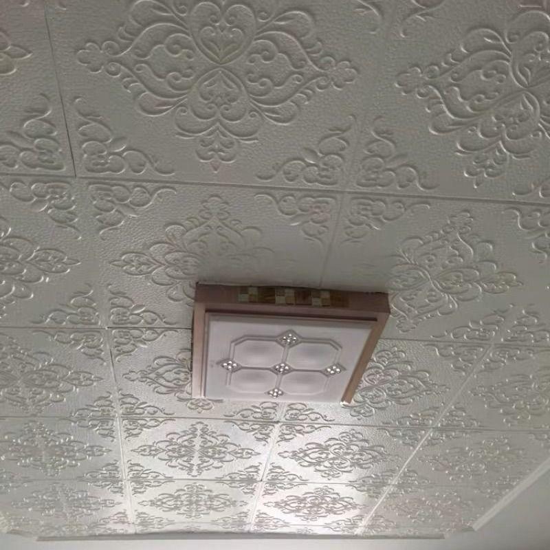 天花板自粘墙面装饰贴纸创意吊顶卧室墙贴软包贴防水3d立体墙贴