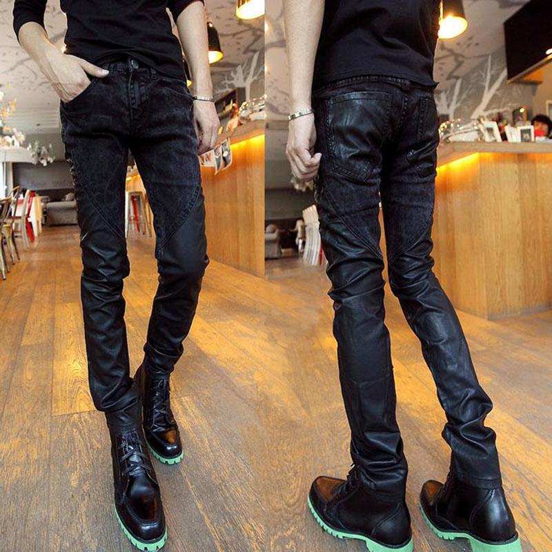 Кожаные брюки Артикул 37203612309