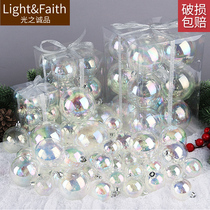 Colorful transparent ball bubble ball 4-8cm Christmas tree decoration ball acrylic hanging ball hanging ornaments pendant Christmas ball
