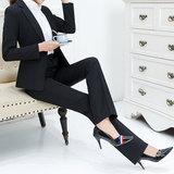 西裤高腰直筒职业裤子显瘦正装夏季薄新款工作酒店工装黑色上班女