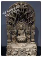 White Marble Boutique Hollow back Buddha, superb performance, unique shape, high 80. wide 50. thick 27Cm