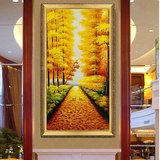 Mandi Golden Avenue hand-painted oil painting living room home entrance hallway corridor painting mural European decorative painting road pass