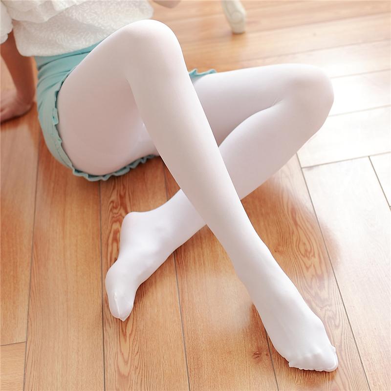 防勾丝天鹅绒连裤袜日系肉色白色丝袜夏季薄款性感显瘦打底袜子女