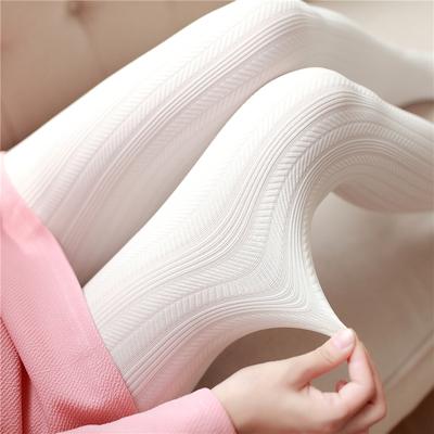 夏季显瘦甜美日系白色连裤袜竖条纹打底袜子女性感防勾丝薄款丝袜