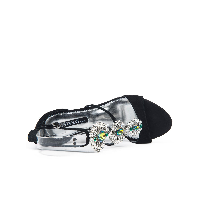 SS72115523 型带女凉鞋闪亮女鞋 T 星期六羊反绒 Sat ; amp & St