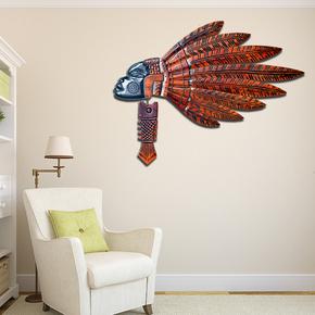 创意非洲人物椴木拼接墙面装饰品壁挂装饰品异域风情墙上挂件客厅