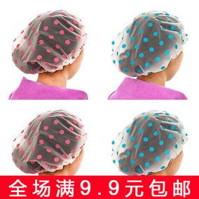 加厚防水浴帽 洗澡沐浴化妆护理帽 厨房防油烟帽子
