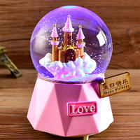 Automatic snow crystal ball music box music box snowflake children's day birthday gift girl girl princess