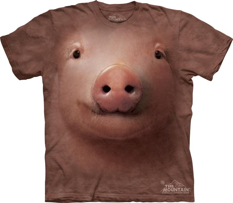 美国男t恤The Mountain3d猪头短袖情侣装夏创意潮牌短袖男t恤