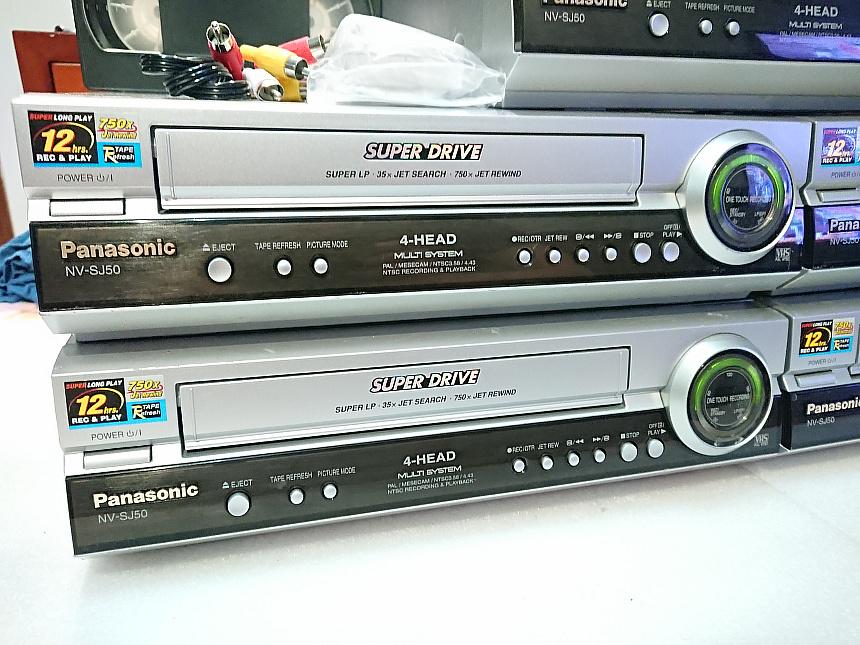 新款 松下高画质录像带播放机老式VHS录影带视频转换器磁带录像机