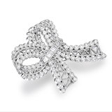 Upstairs Building 1.82 Carat Bow Diamond Brooch 2297