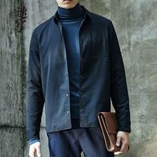 9G010173 秋冬羊毛质感小翻方领长袖 衬衫 速写男装